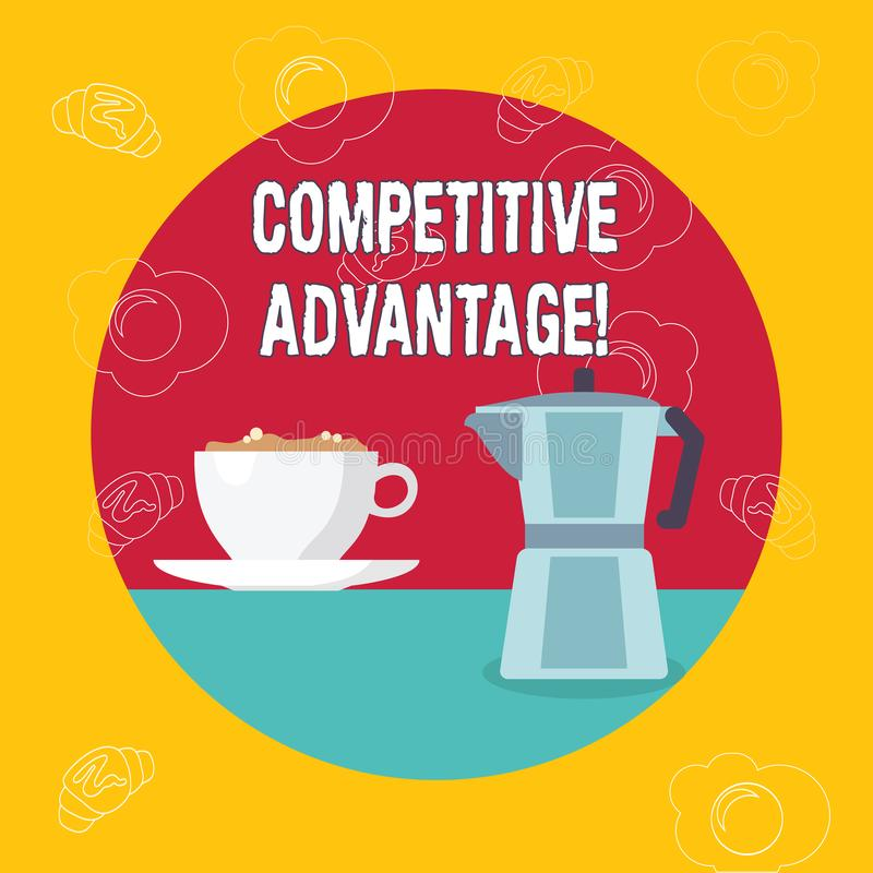 Word writing text Competitive Advantage. Business concept for owning quality that will assure you leading in field. Word writing text Competitive Advantage royalty free illustration