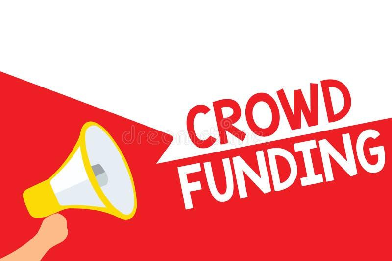 Word writing text Crowd Funding. Business concept for Fundraising Kickstarter Startup Pledge Platform Donations Megaphone loudspea. Ker speech bubbles important vector illustration