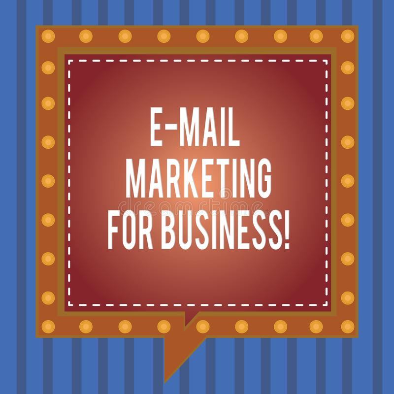 Word writing text E Mail Marketing For Business. Business concept for Mailing as advertising campaign strategies Square. Speech Bubbles Inside Another with vector illustration