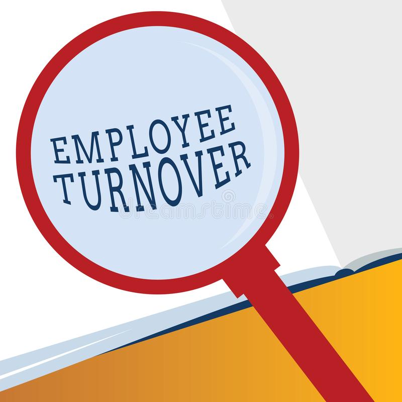 Word writing text Employee Turnover. Business concept for Number or percentage of workers who leave an organization.  stock illustration