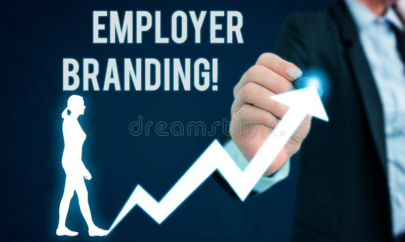 Word writing text Employer Branding. Business concept for promoting company employer choice to desired target group. Word writing text Employer Branding royalty free stock photo