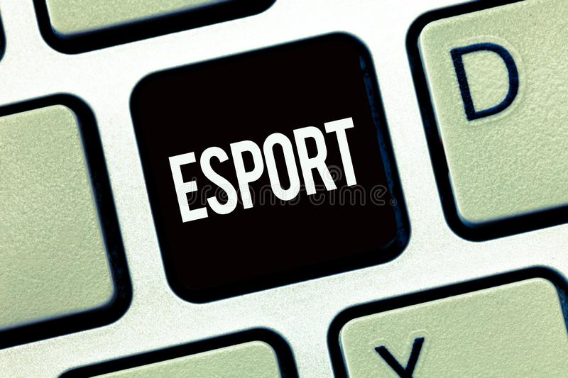 Word writing text Esport. Business concept for multiplayer video game played competitively for spectators and fun.  stock photos