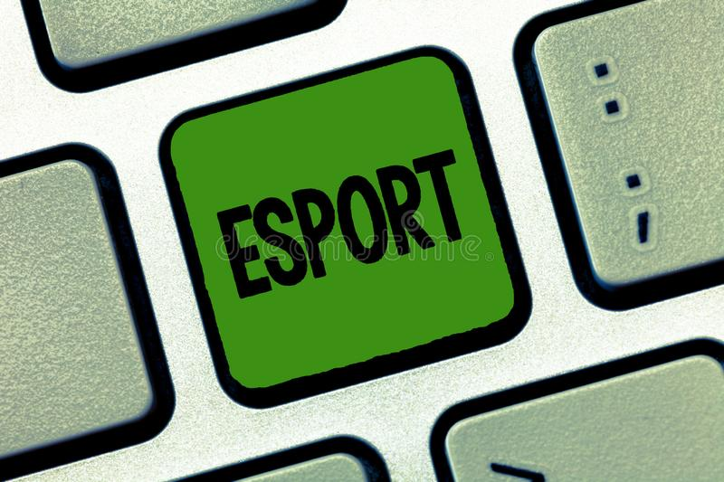 Word writing text Esport. Business concept for multiplayer video game played competitively for spectators and fun.  royalty free stock images