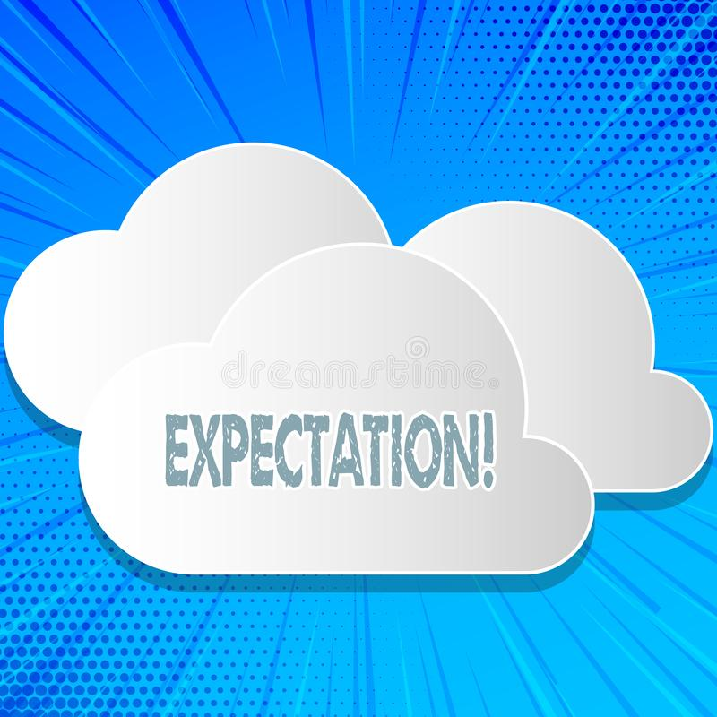 Word writing text Expectation. Business concept for Meteorological research analyst predicts weather forecast. Word writing text Expectation. Business concept vector illustration