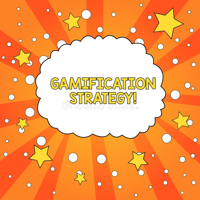 Word writing text Gamification Strategy. Business concept for use Rewards for Motivation Integrate Game Mechanics Blank vector illustration