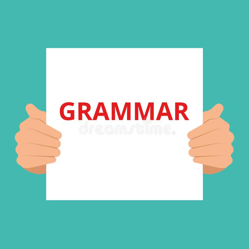 Word writing text Grammar Motivational Call stock illustration