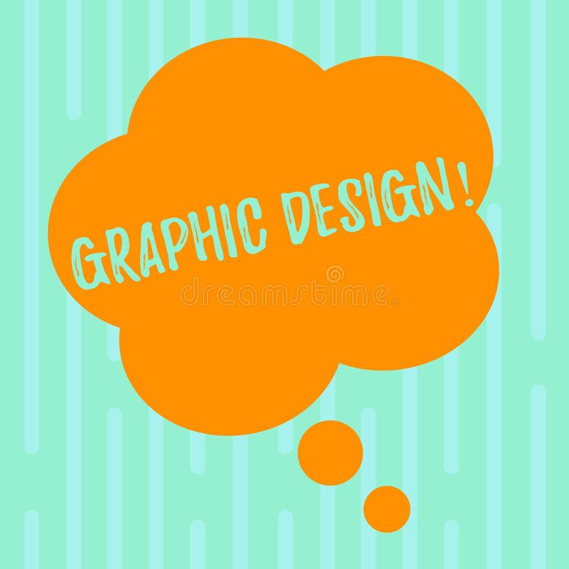 Word writing text Graphic Design. Business concept for Art of combining Text Images in advertising Blank Color Floral. Word writing text Graphic Design. Business vector illustration