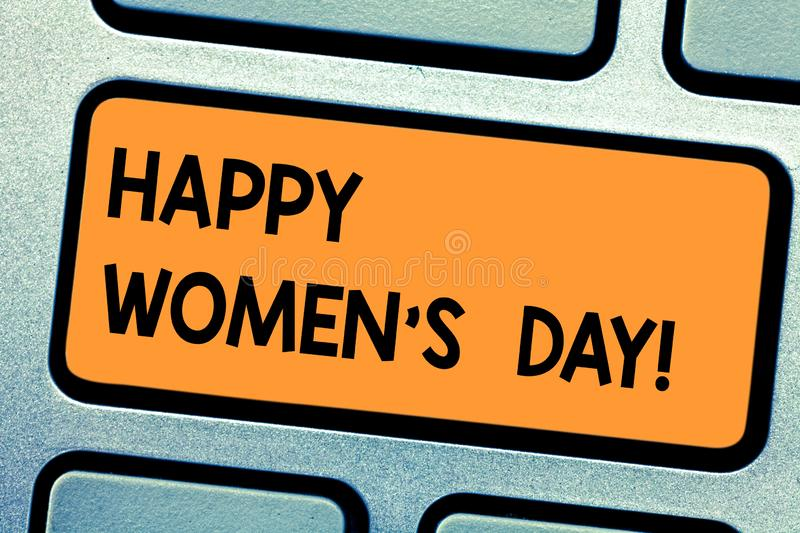 Word writing text Happy Women S Is Day. Business concept for day celebrated on March that celebrates woanalysishood royalty free illustration