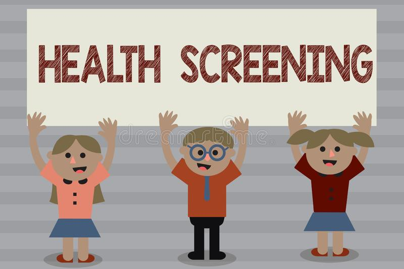 Word writing text Health Screening. Business concept for targeted systematic action designed to identify diseases.  stock photography