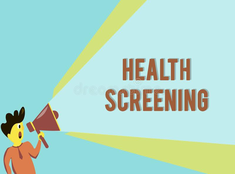 Word writing text Health Screening. Business concept for targeted systematic action designed to identify diseases.  royalty free stock photos