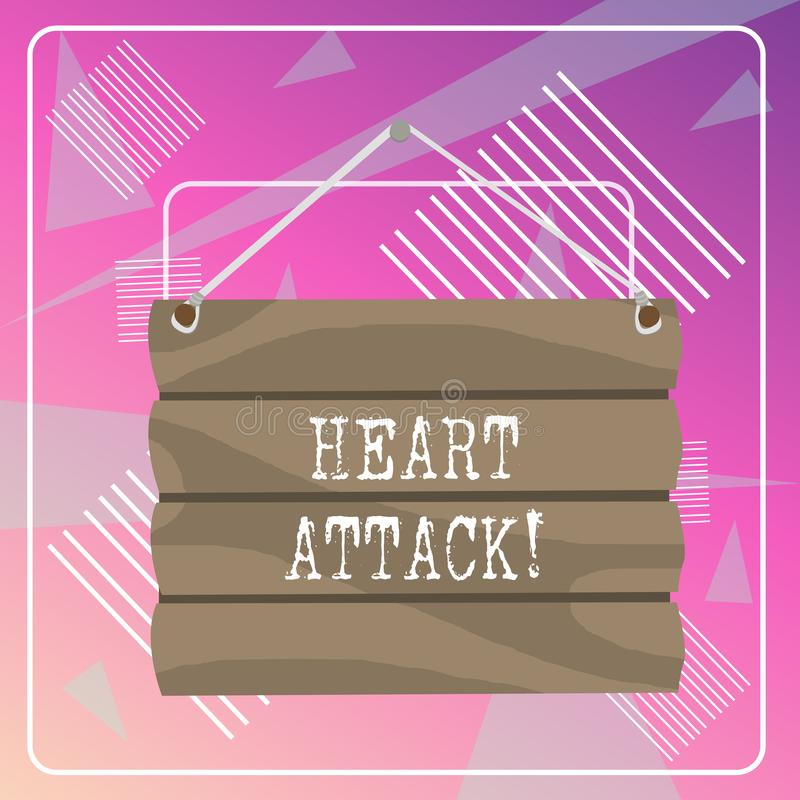 Word writing text Heart Attack. Business concept for sudden occurrence of coronary thrombosis resulting in death Hook Up. Word writing text Heart Attack vector illustration