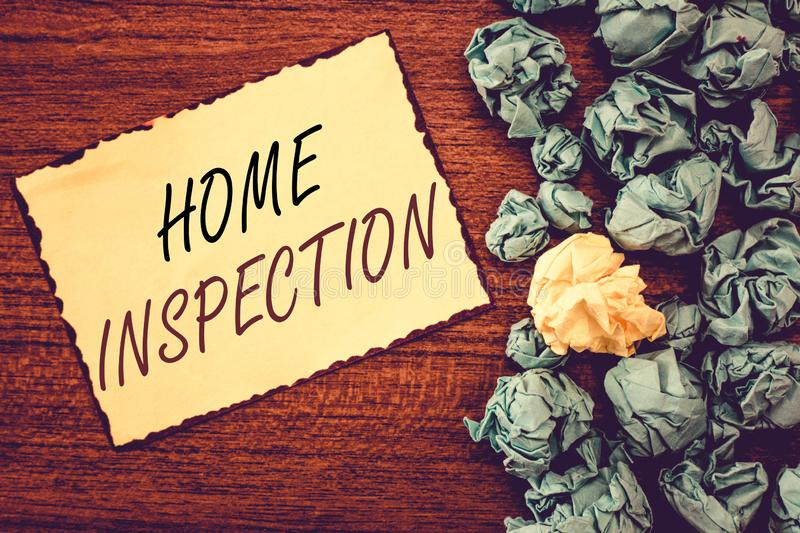 Word writing text Home Inspection. Business concept for Examination of the condition of a home related property.  royalty free stock photos