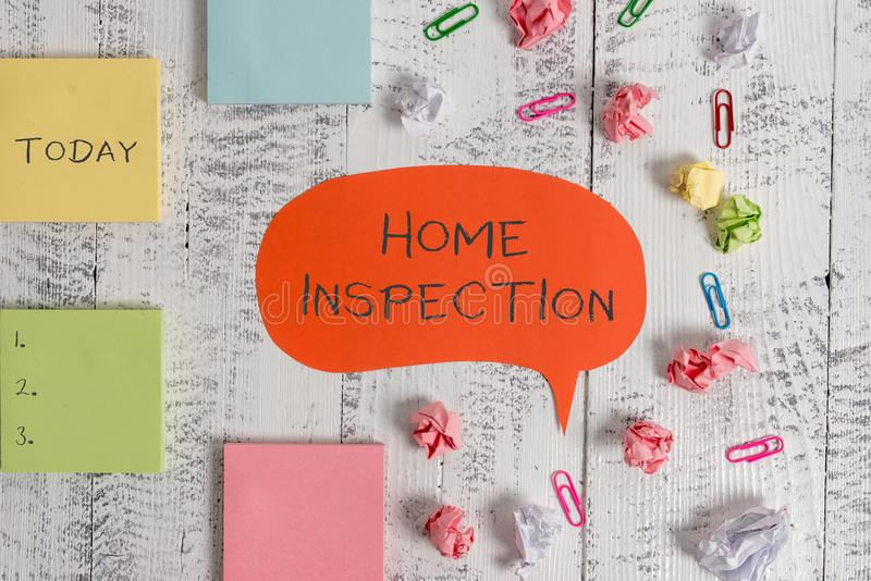 Word writing text Home Inspection. Business concept for Examination of the condition of a home related property Blank. Word writing text Home Inspection stock images