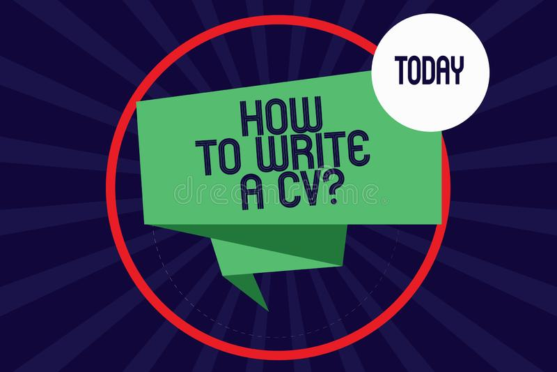 writing a business cv resume concept stock vector