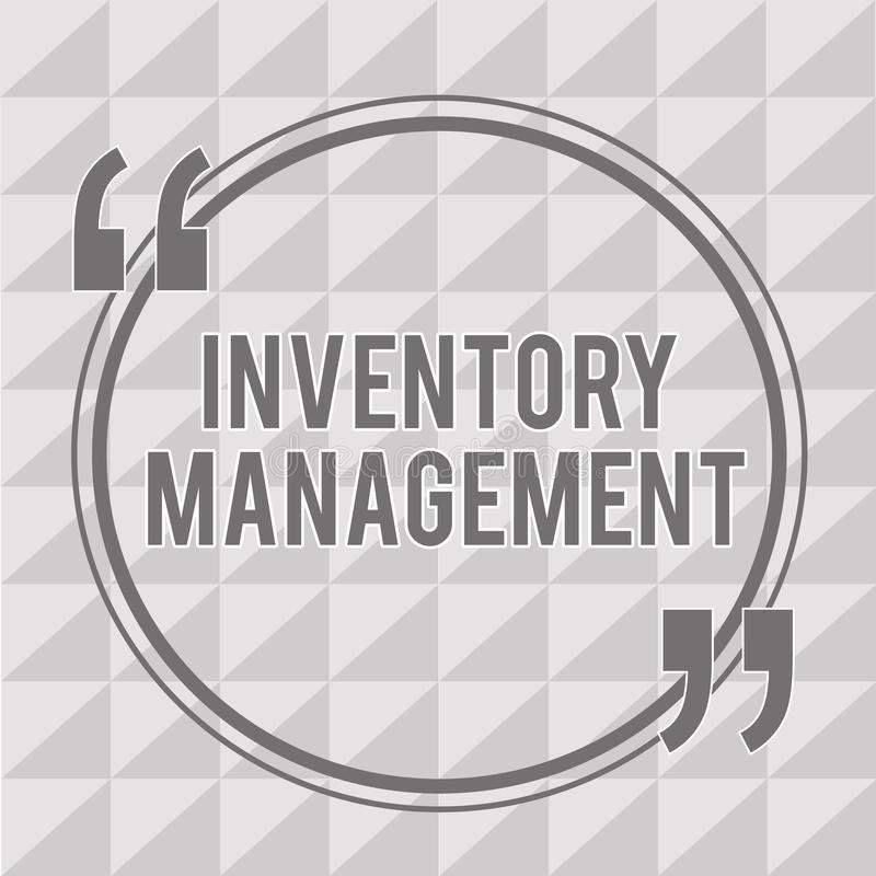 Word writing text Inventory Management. Business concept for Overseeing Controlling Storage of Stocks and Prices.  vector illustration