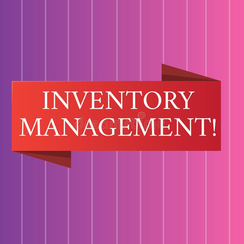 Word writing text Inventory Management. Business concept for supervision of non capitalized assets and stock items Blank. Word writing text Inventory Management royalty free illustration