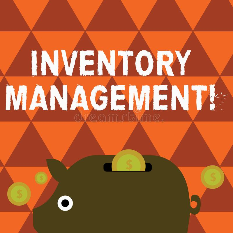 Word writing text Inventory Management. Business concept for supervision of non capitalized assets and stock items. Word writing text Inventory Management royalty free illustration