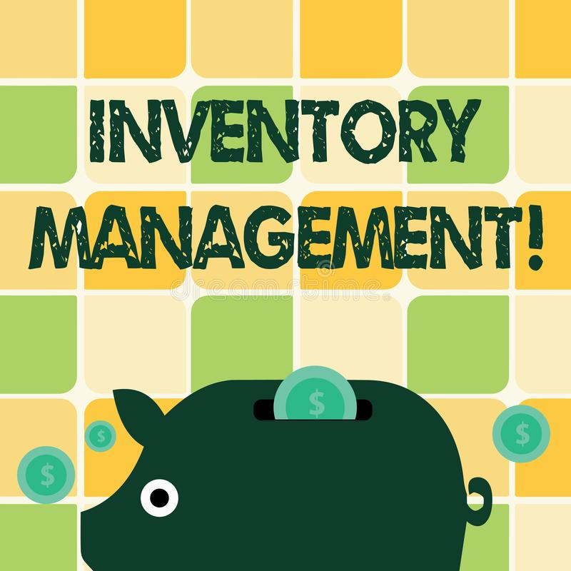 Word writing text Inventory Management. Business concept for supervision of noncapitalized assets and stock items. Word writing text Inventory Management vector illustration