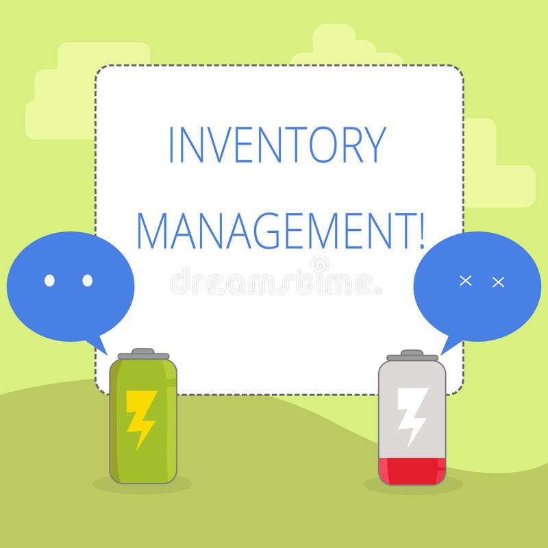 Word writing text Inventory Management. Business concept for supervision of noncapitalized assets and stock items Fully. Word writing text Inventory Management vector illustration