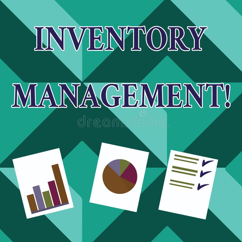 Word writing text Inventory Management. Business concept for supervision of noncapitalized assets and stock items. Word writing text Inventory Management royalty free illustration