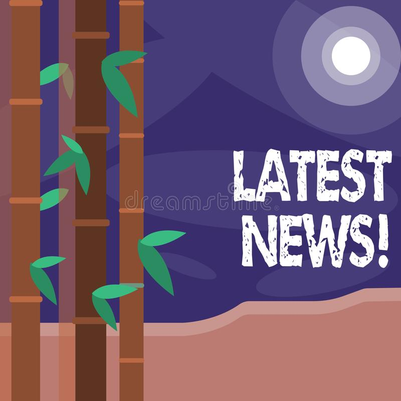 Word writing text Latest News. Business concept for something that is most recent or currently just happened Colorful. Word writing text Latest News. Business royalty free illustration
