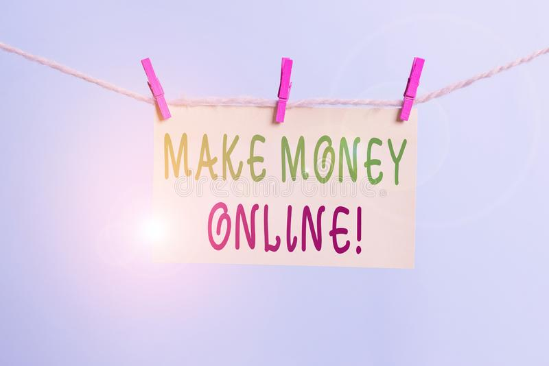 Word writing text Make Money Online. Business concept for making profit using internet like freelancing or marketing. Word writing text Make Money Online royalty free stock photos