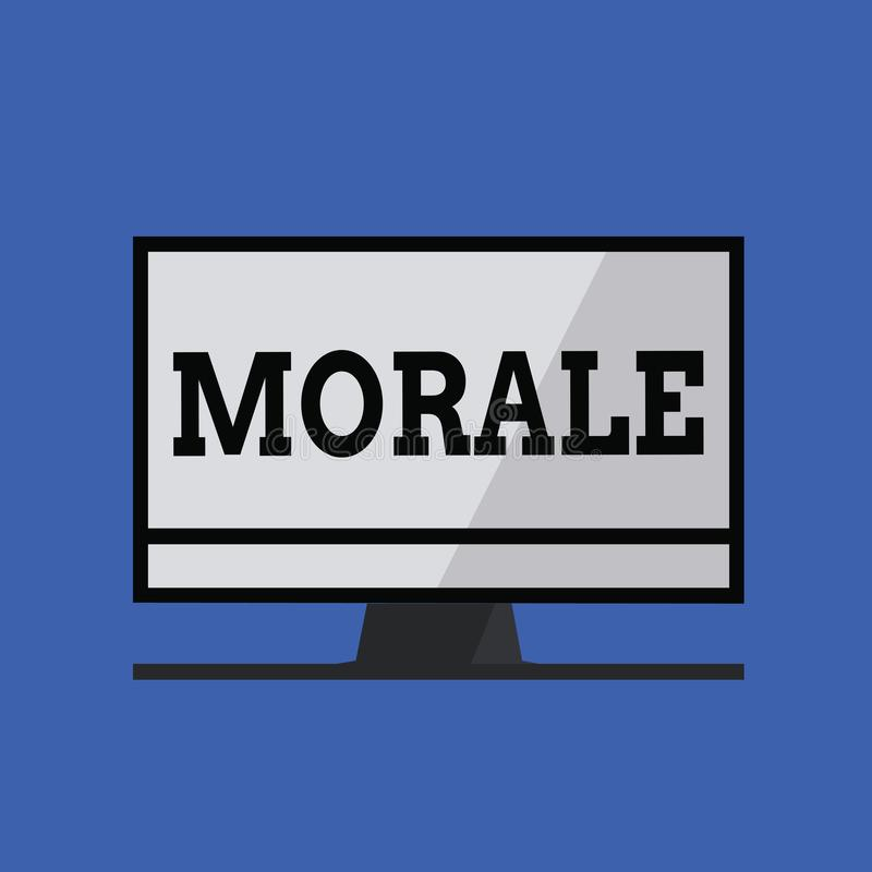 Word writing text Morale. Business concept for enthusiasm and discipline of person or group at particular time.  royalty free illustration