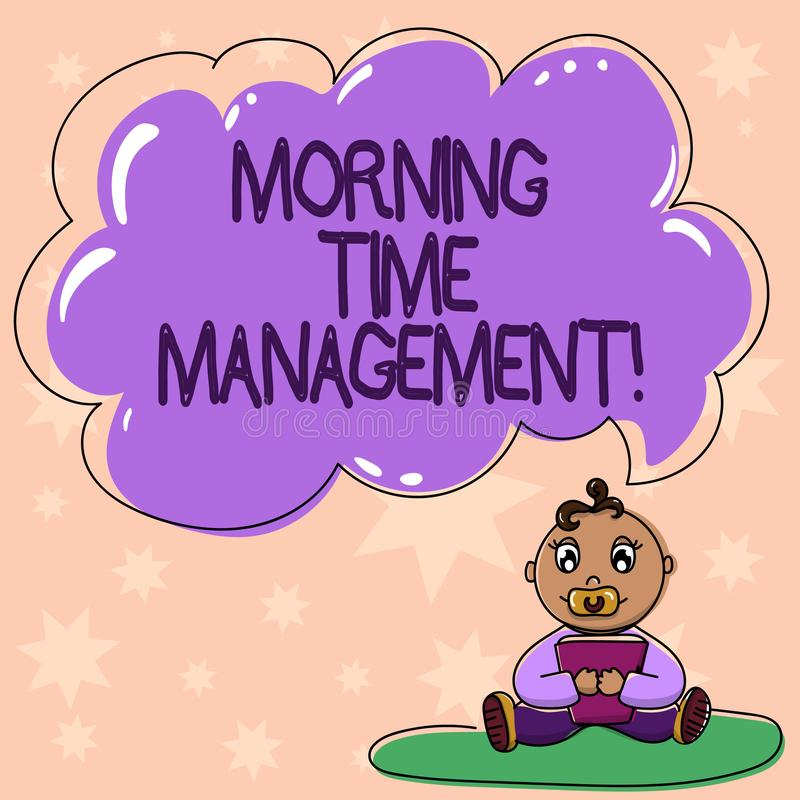 Word writing text Morning Time Management. Business concept for optimal use of the time available to them on the job vector illustration