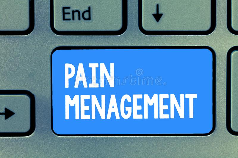 Word writing text Pain Management. Business concept for a branch of medicine employing an interdisciplinary approach.  stock photo
