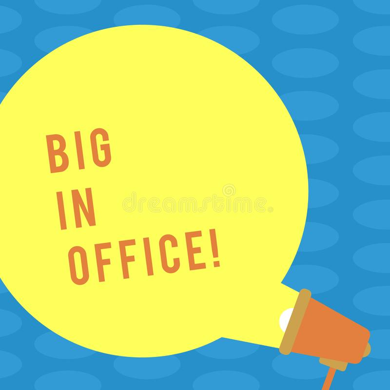 Word writing text People In Office. Business concept for room or part of building where they work sitting at desks Blank royalty free illustration