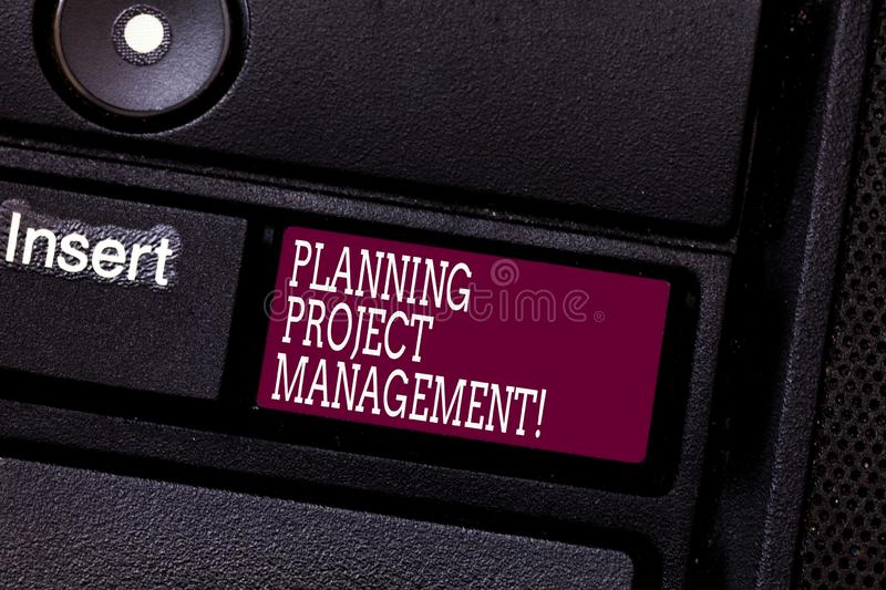 Word writing text Planning Project Management. Business concept for use of schedules to plan then report progress stock photo