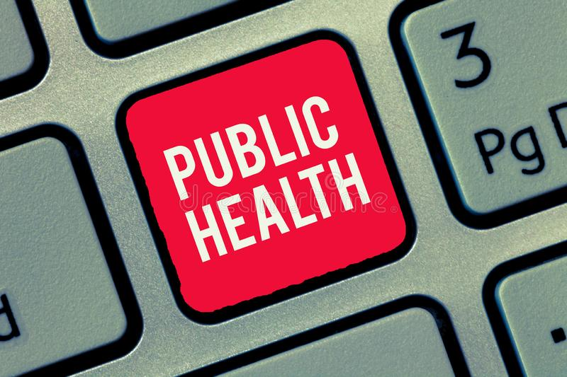 Word writing text Public Health. Business concept for Promoting healthy lifestyles to the community and its showing.  royalty free stock photos