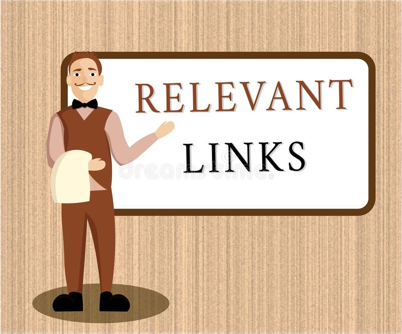 Word writing text Relevant Links. Business concept for Significant sites for a particular topic Associated.  royalty free illustration