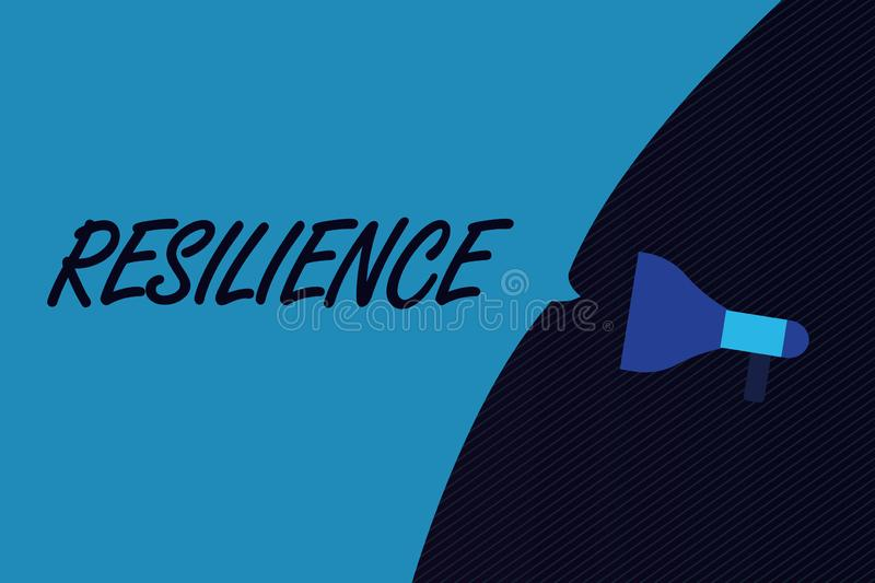 Word writing text Resilience. Business concept for Capacity to recover quickly from difficulties Persistence.  stock illustration