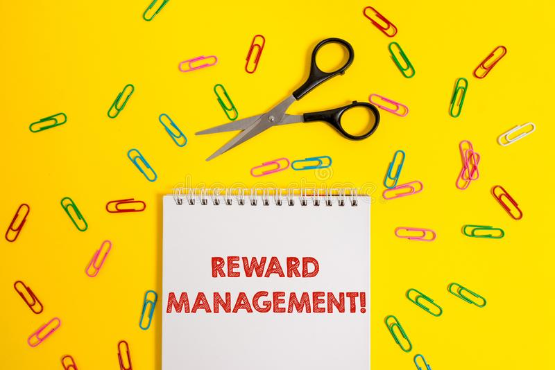 Word writing text Reward Perforanalysisce. Business concept for Appraisal Recognize workers Relative Worth to the. Word writing text Reward Perforanalysisce stock photo
