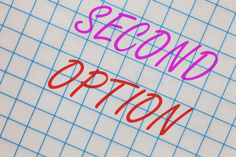 Second option business