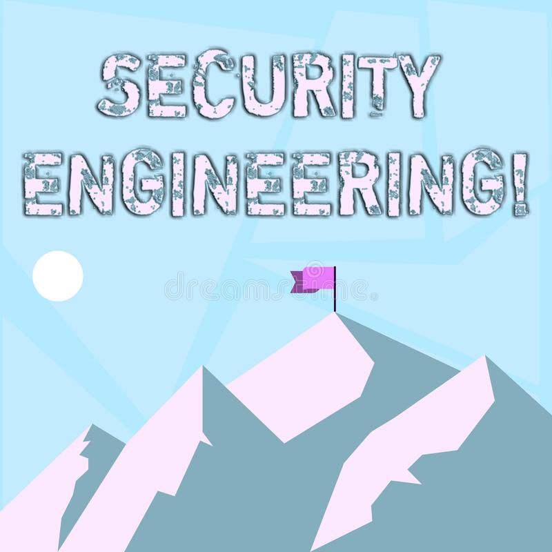 Word writing text Security Engineering. Business concept for focus on the security aspects in the design of systems vector illustration