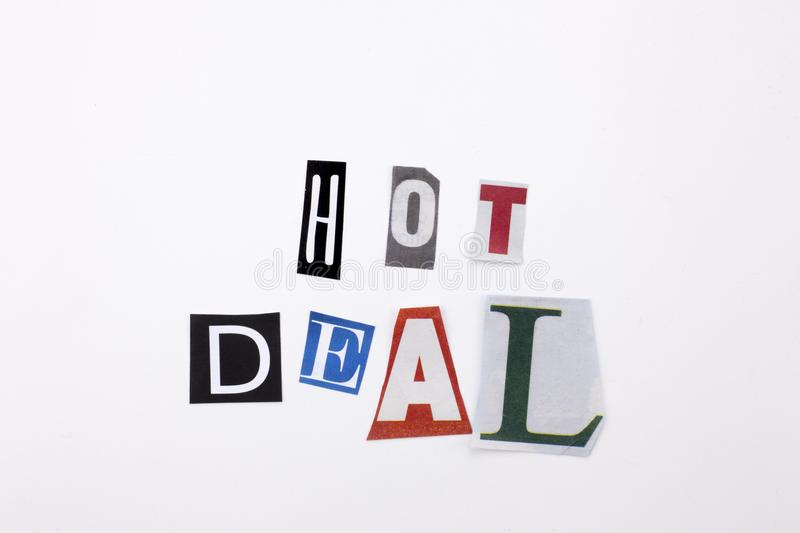 A word writing text showing concept of hot deal made of different download a word writing text showing concept of hot deal made of different magazine newspaper letter spiritdancerdesigns Image collections
