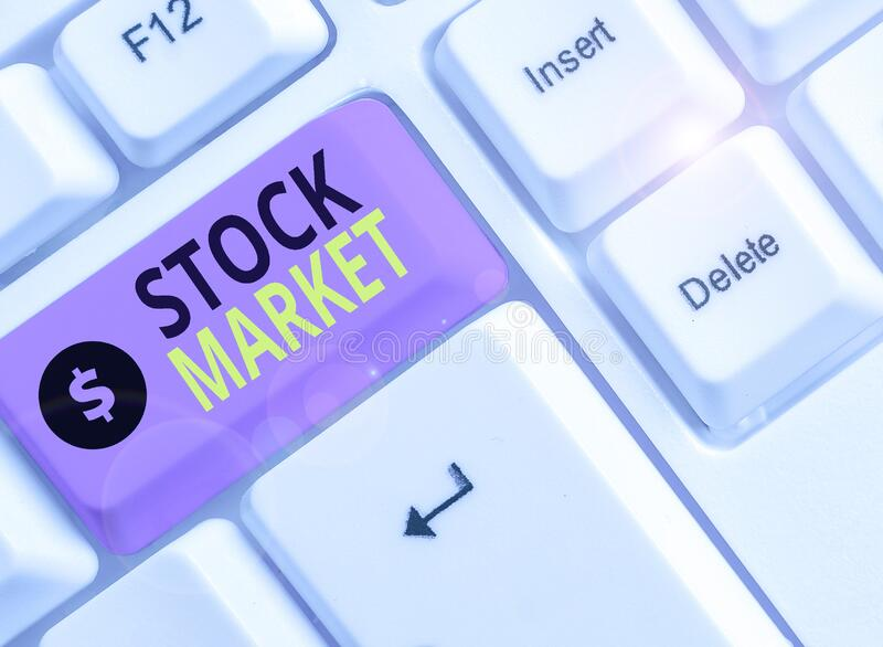 Word writing text Stock Market. Business concept for traders buy and sell shares of companies on a public exchange. Word writing text Stock Market. Business stock image