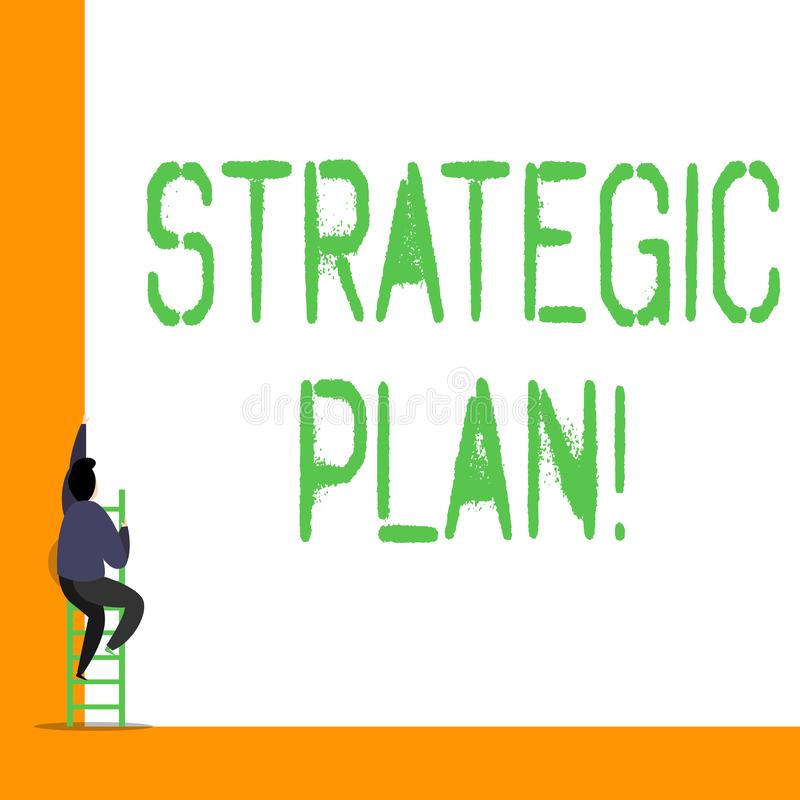 Word writing text Strategic Plan. Business concept for analysisagement activity that is used to set and focus priorities. Word writing text Strategic Plan royalty free illustration