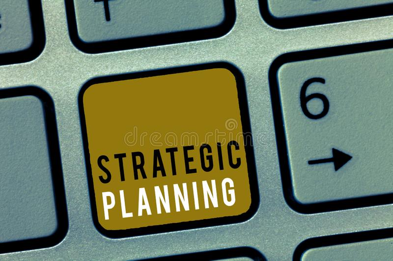 Word writing text Strategic Planning. Business concept for Organizational Management Activity Operation Priorities royalty free stock photo