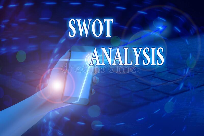 Word writing text Swot Analysis. Business concept for framework used to evaluate a company competitive position. Word writing text Swot Analysis. Business photo royalty free stock photography