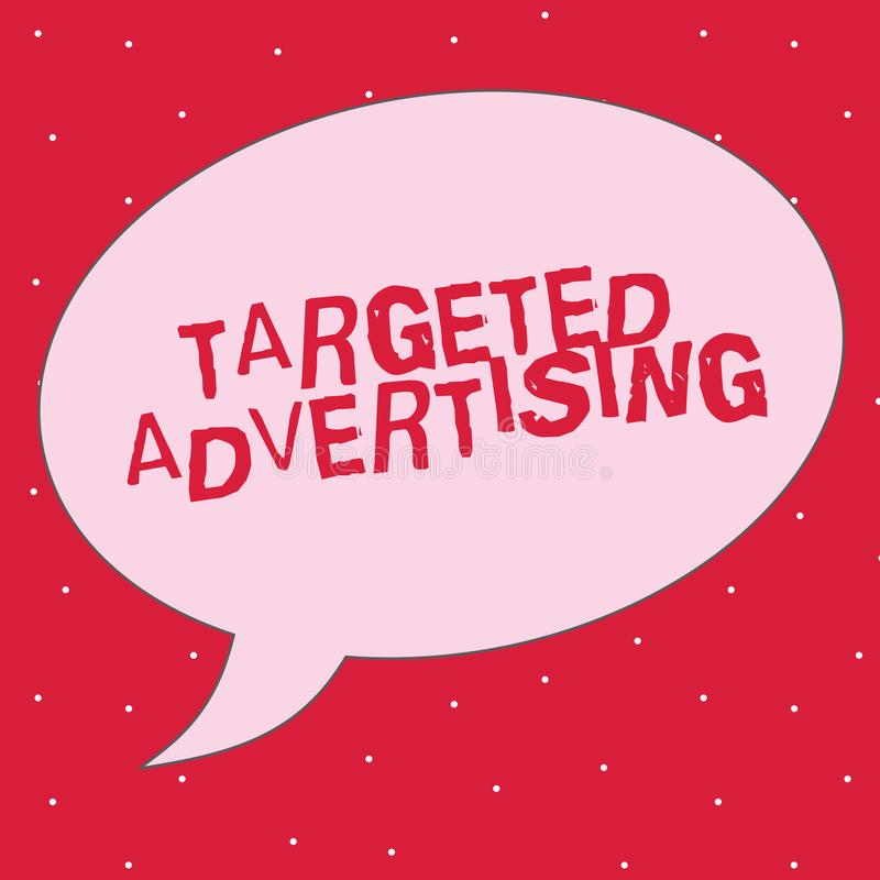 Word writing text Targeted Advertising. Business concept for Online Advertisement Ads based on consumer activity.  vector illustration