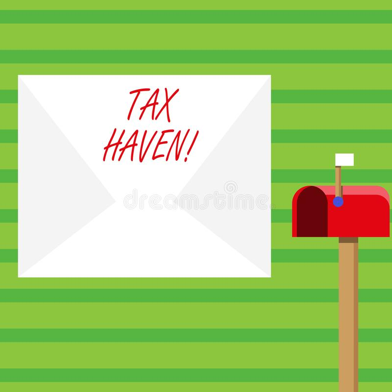 Word writing text Tax Haven. Business concept for country or independent area where taxes are levied at low rate Blank. Word writing text Tax Haven. Business vector illustration
