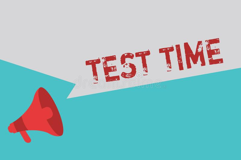 Word writing text Test Time. Business concept for Moment to take an examination Grade knowledge lesson learned.  royalty free illustration