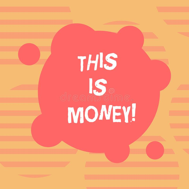 Word writing text Time Is Money. Business concept for Better to do things as quickly as possible Do not delay Blank Deformed Color. Round Shape with Small vector illustration