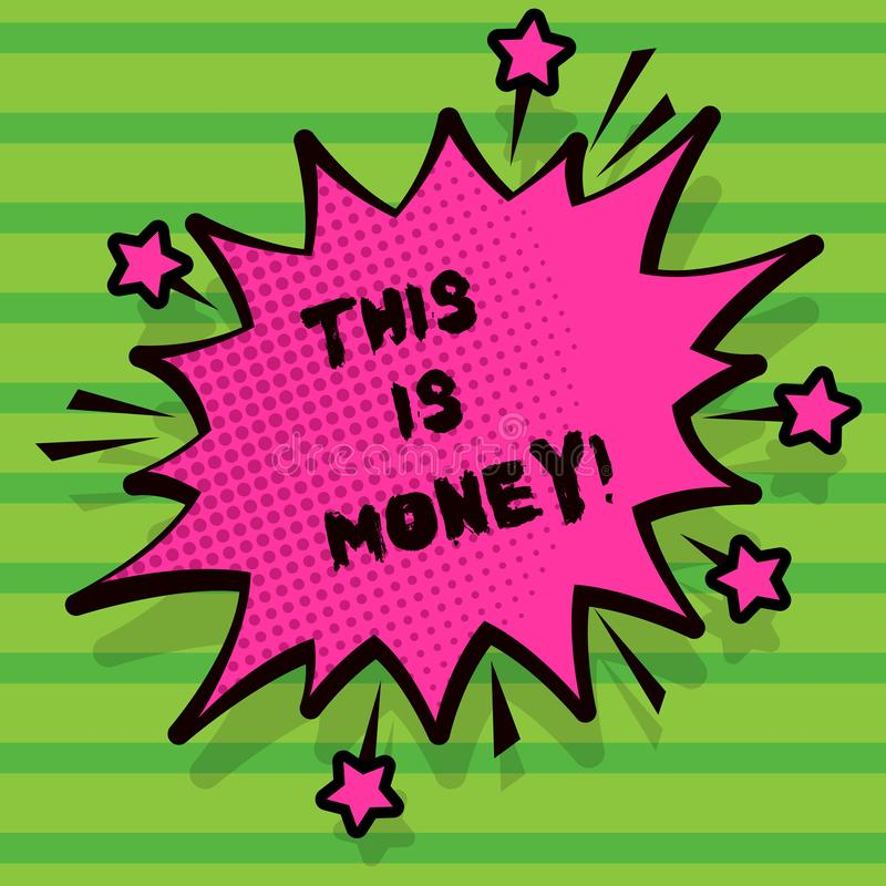 Word writing text Time Is Money. Business concept for Better to do things as quickly as possible Do not delay. Word writing text Time Is Money. Business concept stock illustration