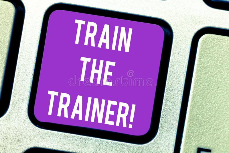 Word writing text Train The Trainer. Business concept for identified to teach mentor or train others attend class vector illustration