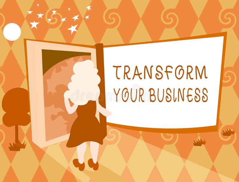 Word writing text Transform Your Business. Business concept for Modify energy on innovation and sustainable growth.  vector illustration