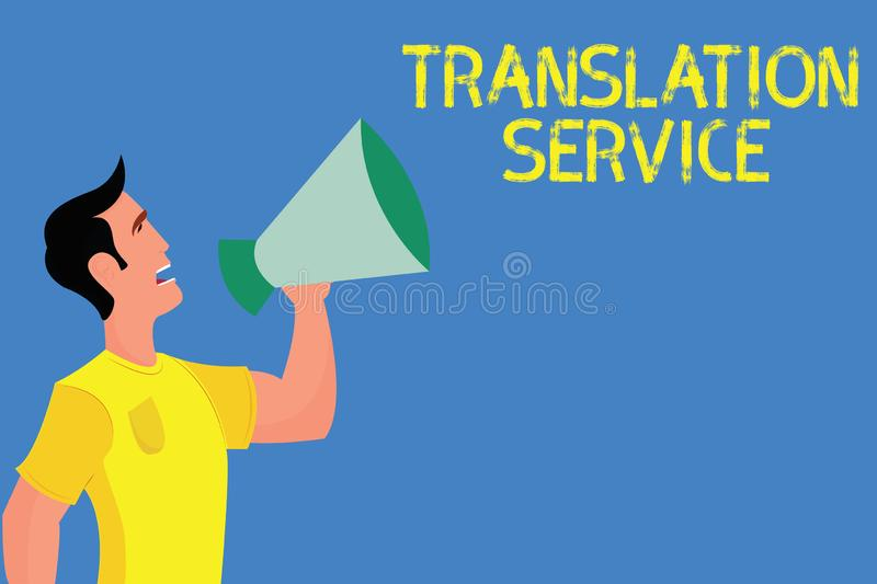 Word writing text Translation Service. Business concept for the Equivalent Target Language from the Mother Tongue.  royalty free stock photo